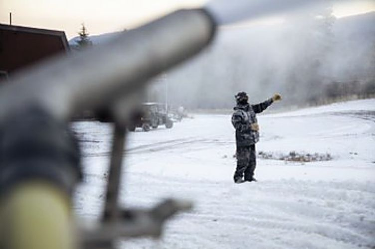 """Senior director of mountain operations at Northstar California Resort Ellen Galbraith said without a storm, snowmaking usually begins around Nov. 1. She said the cold snap this year — with nights hovering at 26 degrees — in particular felt """"better"""" given the abrupt end to the ski season this past spring."""