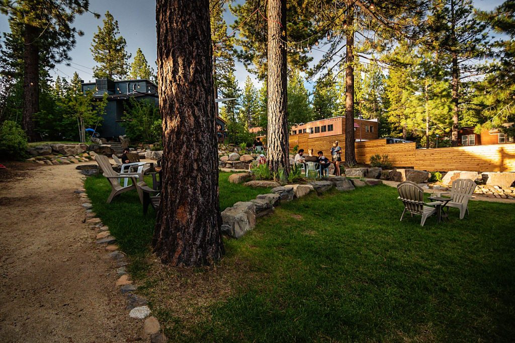 The Incline Village Alibi location has a large yard for outdoor seating.