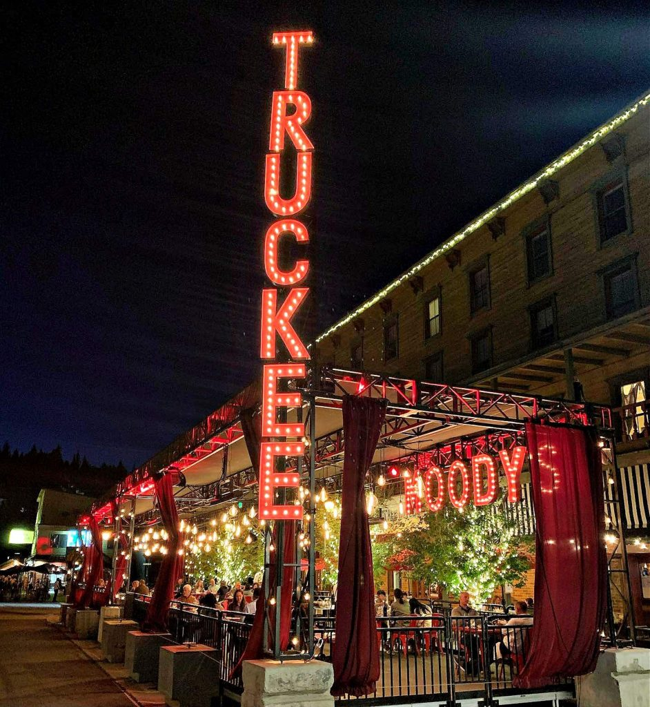 Moody's is preparing to make their outdoor area hospitable to winter.
