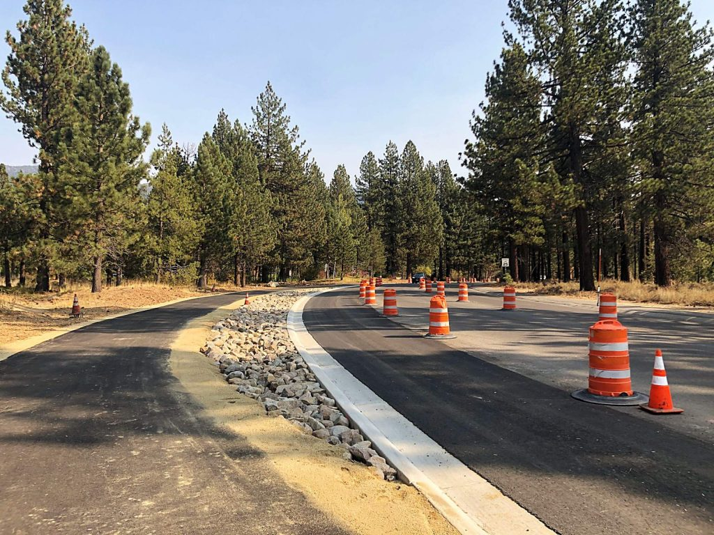 Sections of the bikepath were completed despite material delays due to COVID.