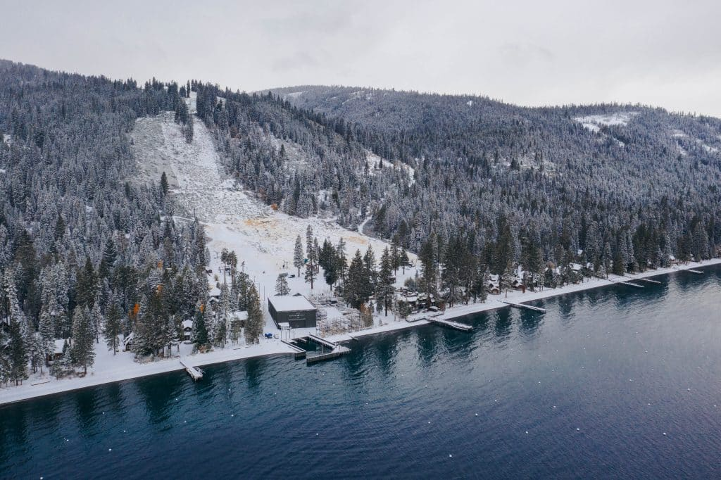 Homewood Mountain Resort received 9 inches of snow at its summit.