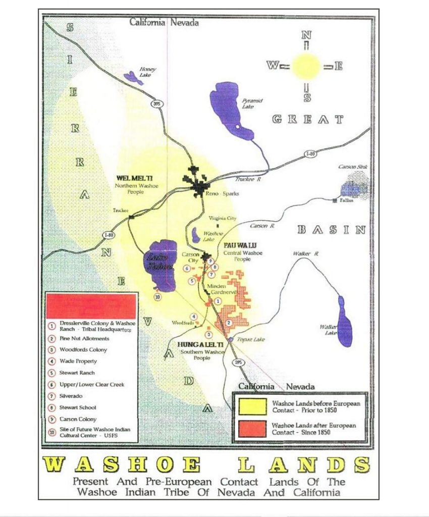 The Washo tribe inhabited the Lake Tahoe region over 1300 years ago.