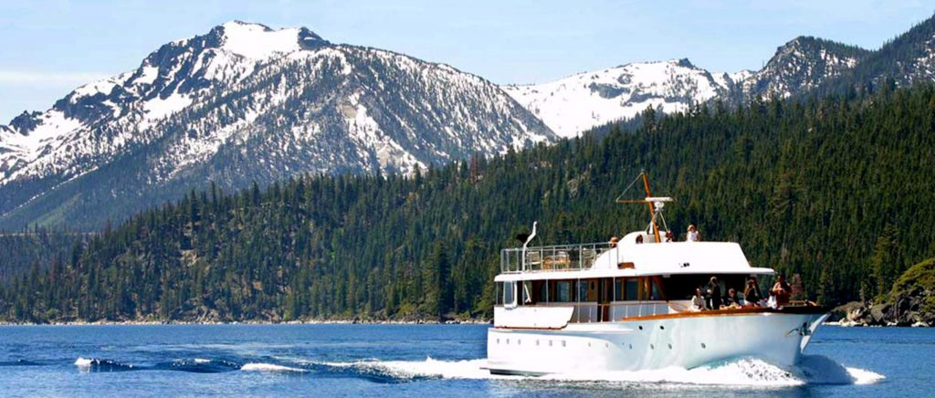 Winter weather doesn't keep the Safari Rose from cruising to Emerald Bay with visitors and a healthy supply of wine from California and beyond.