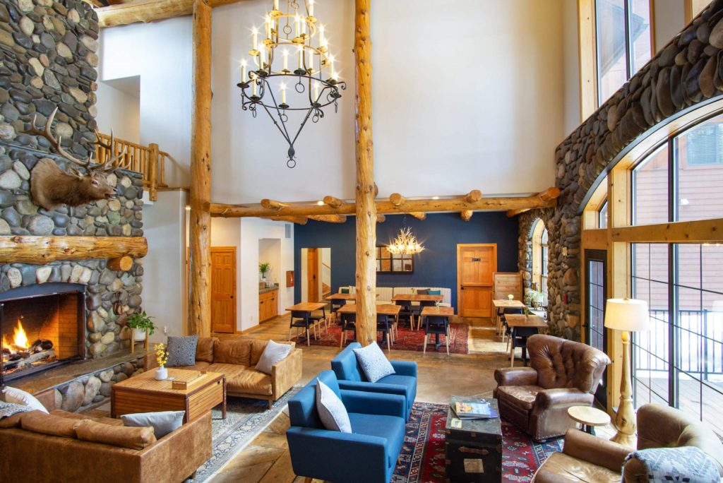 Black Bear Lodge in South Lake Tahoe serves a rotating list of California wines in its impeccably designed great room with a 32-foot river rock fireplace.
