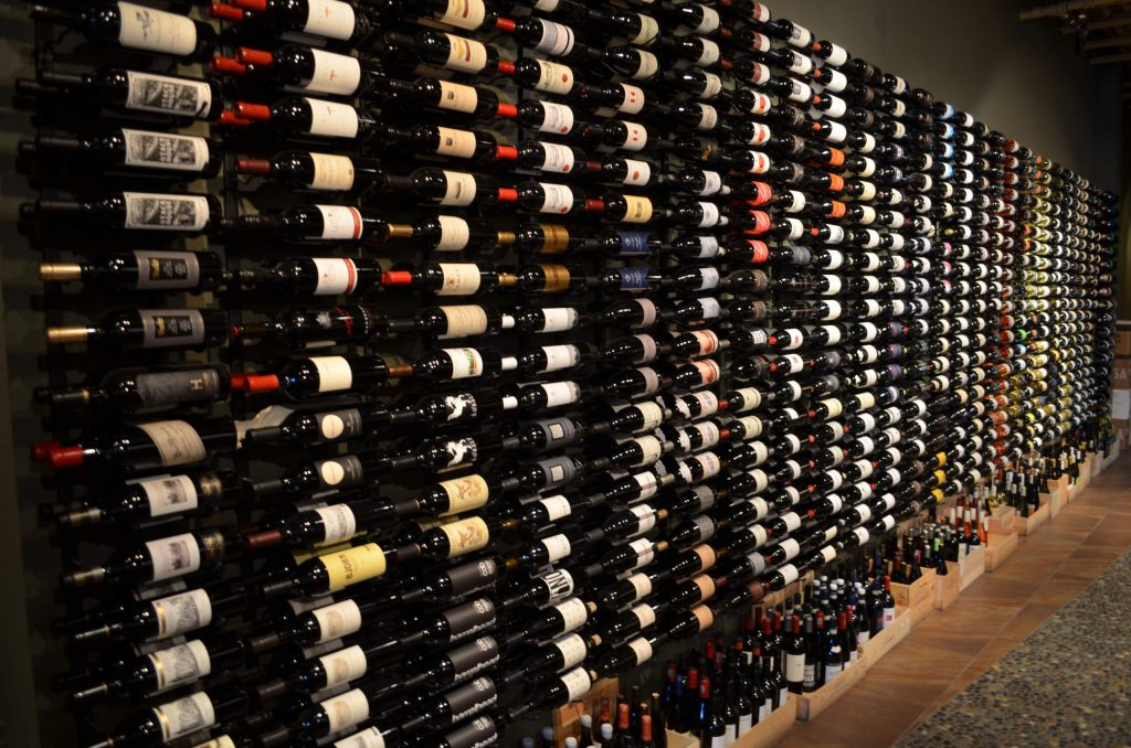 Uncorked uniquely displays its extensive collection of domestic and imported wine. Photo: Uncorked