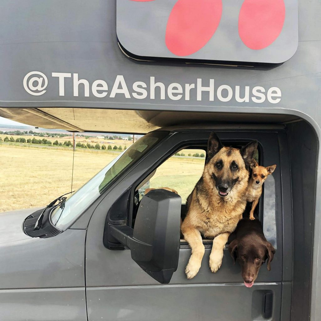 The Asher House spents 4-6 months on the road when on tour.